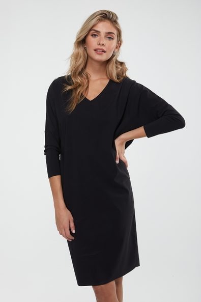V neck loose fit dress