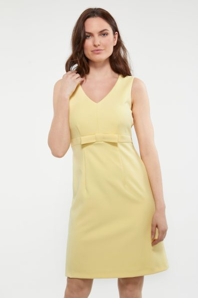 V neck dress with bow