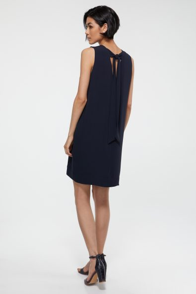 A line dress tied at back