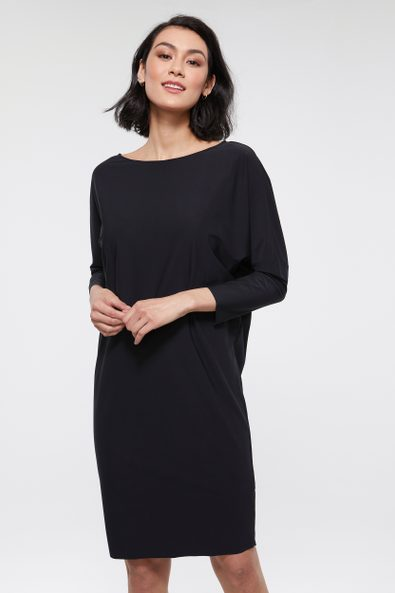 Boat neck loose fit SPORT CHIC dress