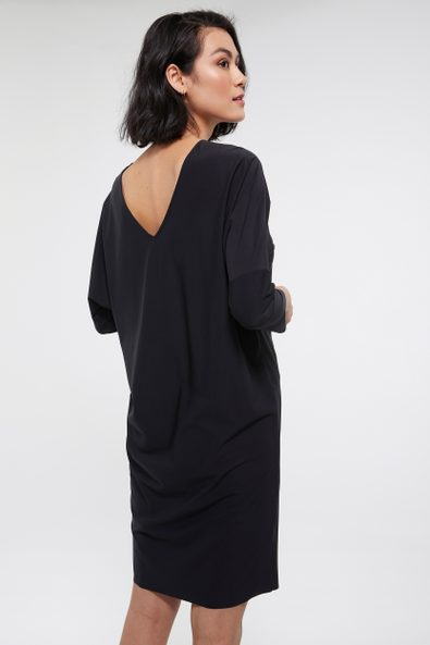 Loose fit SPORT CHIC dress with open back