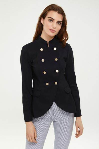 Double breasted SPORT CHIC military jacket