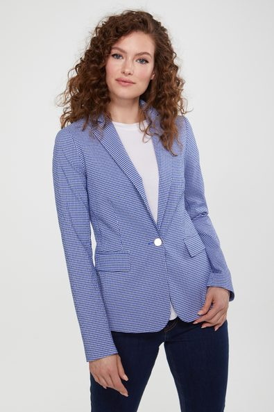Gingham fitted blazer