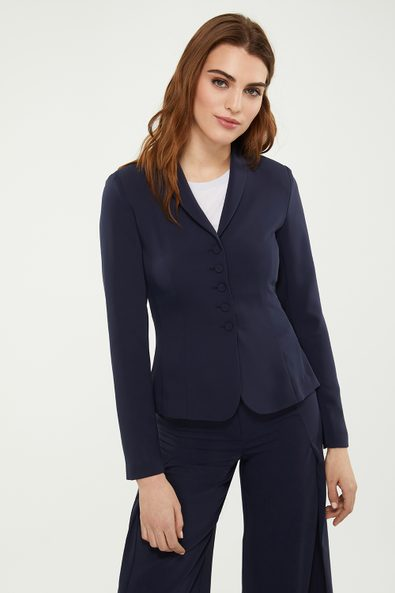 Fitted peplum blazer