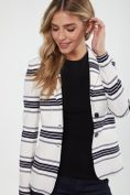 Textured striped stretch jacket