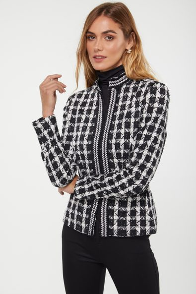 Knitted jacquard jacket