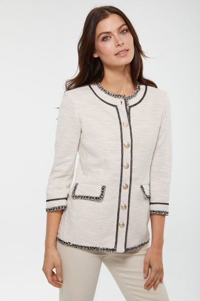 Stretch jacket with ribbons
