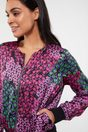 Floral print sateen bomber jacket - Multi Black
