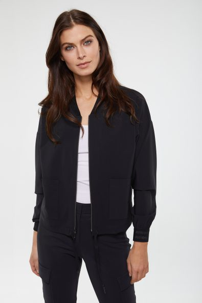 SPORT CHIC Bomber jacket with applied pockets
