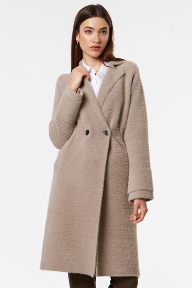 Long soft knitted coat