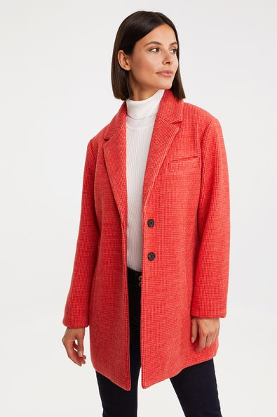 Coat with chest pocket