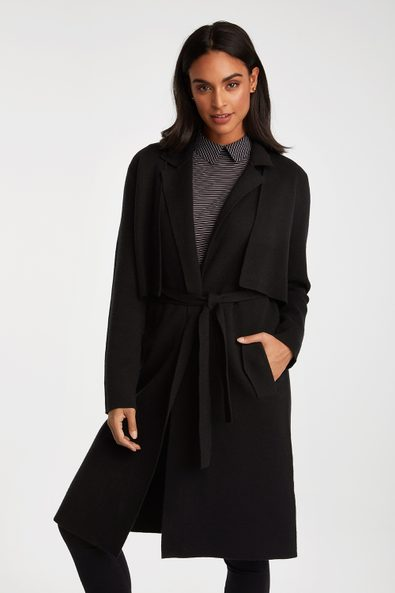 2 piece knitted trench coat