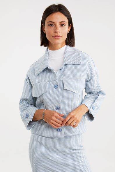 Casual houndstooth jacket