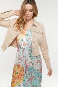 Casual jacket with raw bottom