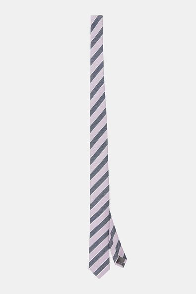 Multi striped thin tie