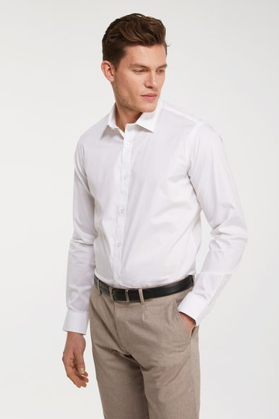 Fitted stretch shirt
