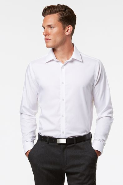 Fitted non-iron dobby shirt