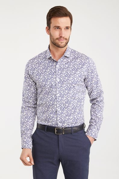 Floral print Extra-fitted shirt