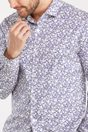 Floral print Extra-fitted shirt - Multi Blue