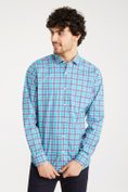 Multitone plaid shirt