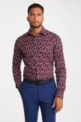 Non-iron Extra-Fitted print shirt