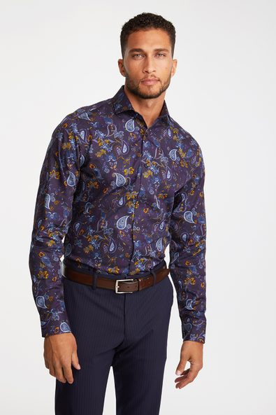 Non-iron Fitted floral shirt