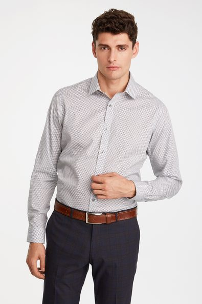 Non-iron Fitted pattern shirt