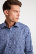 Non-iron Fitted floral print shirt