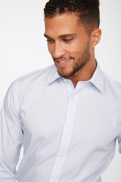 Non-iron Extra-Fitted micro pattern shirt