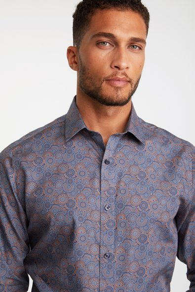 Non-iron Fitted print shirt