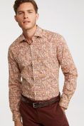 Extra-Fitted Stretch printed shirt