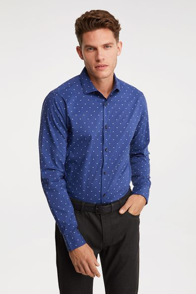 Stretch wicking Extra-Fitted printed shirt