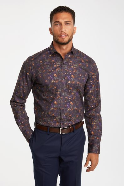 Stretch floral print shirt