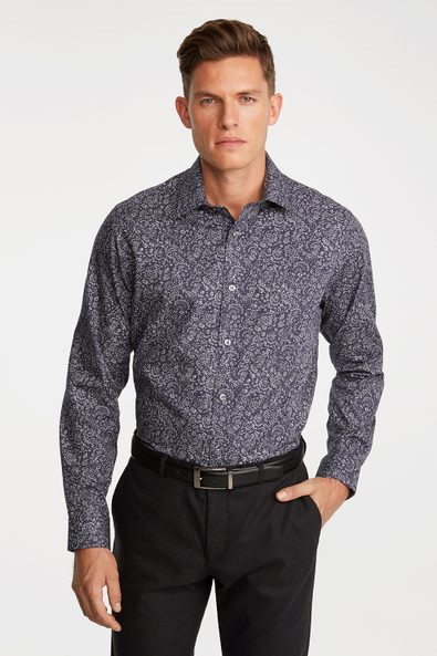 Comfort Fit Non-iron floral printed shirt