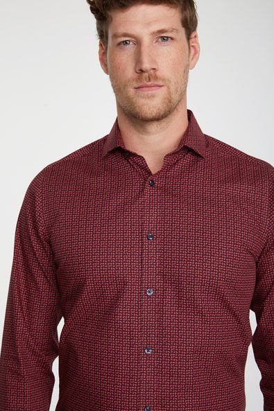 Dotted non-iron shirt