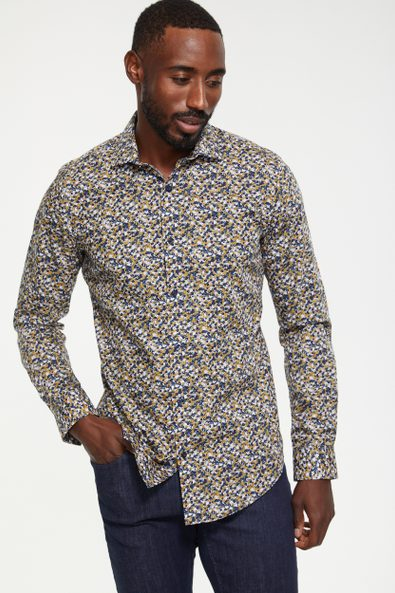 Non-iron Extra-Fitted floral print shirt