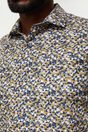 Non-iron Extra-Fitted floral print shirt - Multi Yellow