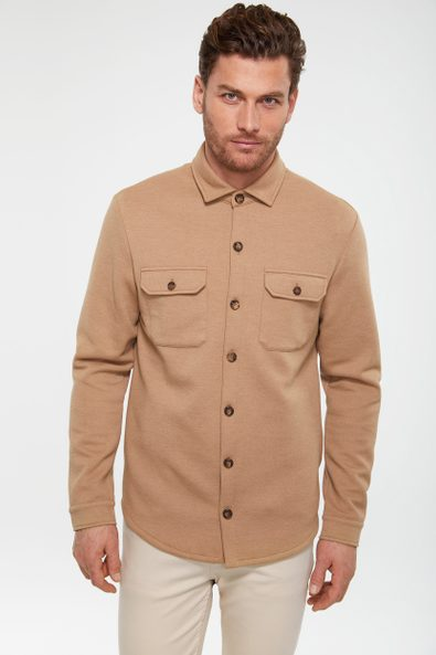 Overshirt with flaps pockets