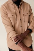 Hooded overshirt with flap pockets
