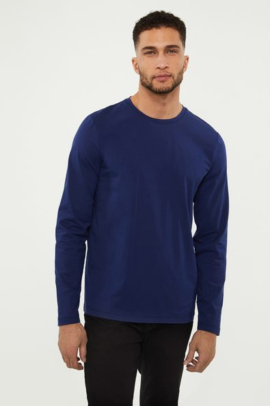 Solid long sleeves t-shirt