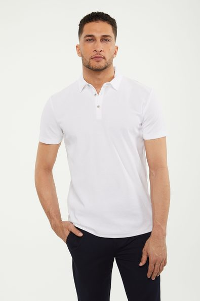 Pique solid colour polo