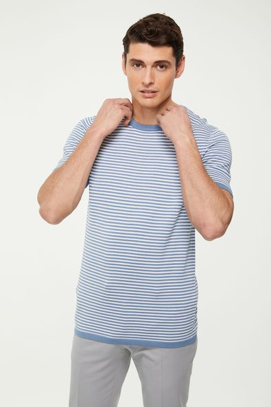 Striped knitted t-shirt