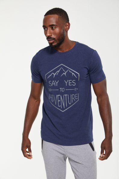 Say Yes to Adventure print t-shirt
