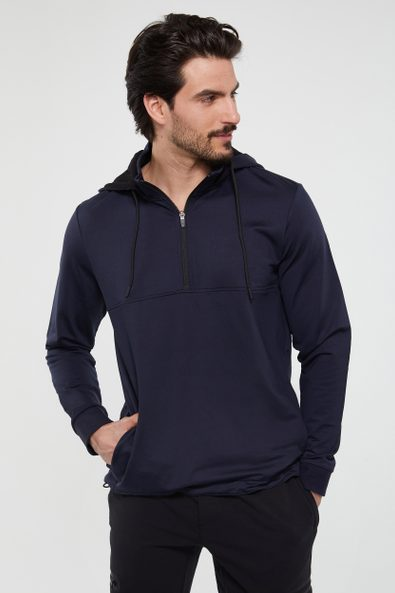 Removable hood sweater