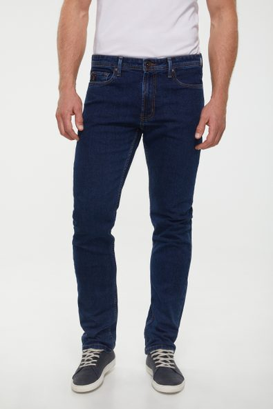 Five pocket rivetless Slim jean
