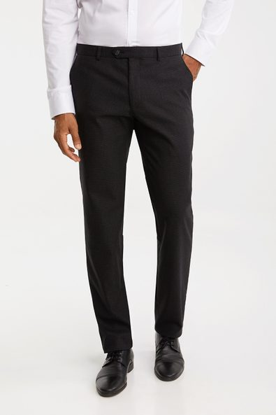Slim fit cross hatch pant