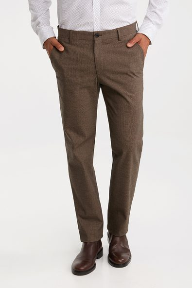 Two tone Slim fit stretch pant