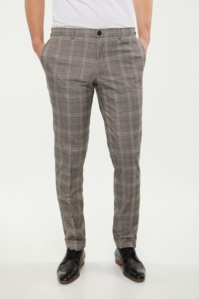 Skinny Fit checkered pant