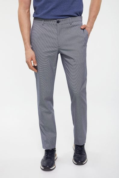 Micro houndstooth Skinny Fit pant
