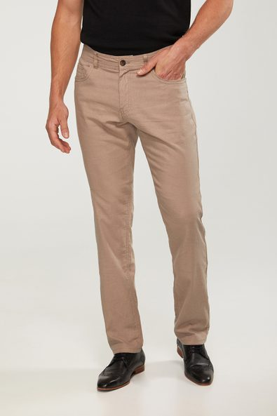 Stretch linen blend Slim 5 pocket pant